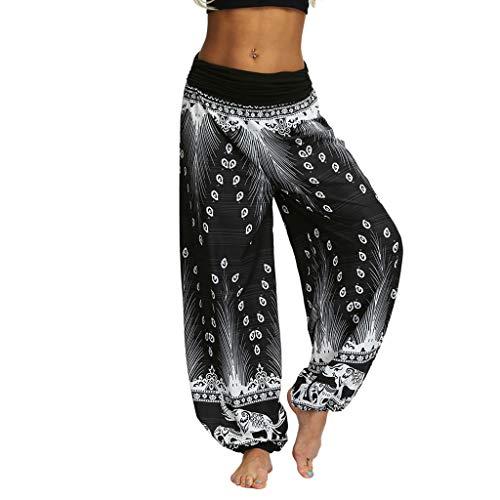 ITISME Pantalon Yoga Femmes Sarouel Bohémien Harem Pants Imprimé Floral pour Danse Orientale (S, A Vilote)
