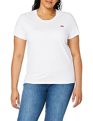 Levi's Perfect Tee, T-Shirt coupe droite Uni Col Ras Du Cou Manches Courtes Femme, Blanc (White...