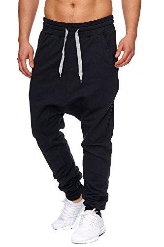 Tazzio – P-501 – Pantalon de survêtement – Style harem - Noir - Medium