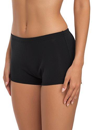 Merry Style Short de Bain Sport Vêtements d'Été Femme L23L1 (Noir (9240), FR 40 = DE 38)
