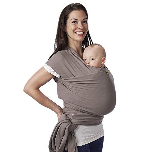 Porte-bébé Boba Wrap, Grey, Echarpe porte-bébé extensible originale, parfait pour les nouveau-nés et les enfants jusqu'à 15 kilos