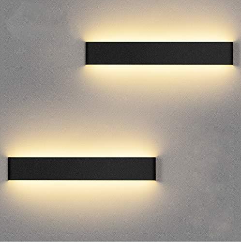 LEDMO Applique Murale Interieur LED 36CM 2 Pack Lampe Murale...