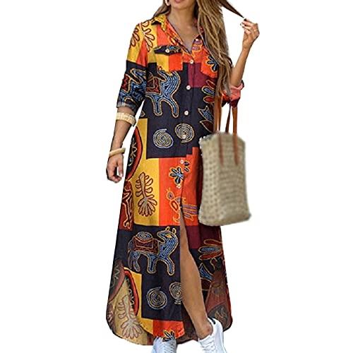 KeYIlowys Nouveau Printemps Et éTé Mode Chemise Sexy Longue Jupe Robe Femmes