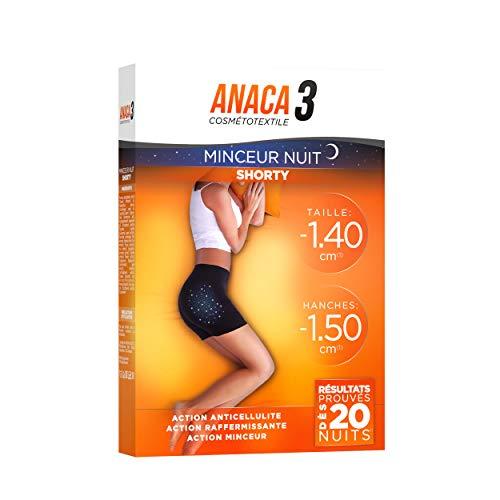 Anaca3 – Shorty Minceur Nuit – Action Amincissante – Résultats Prouvés* – Taille S-M