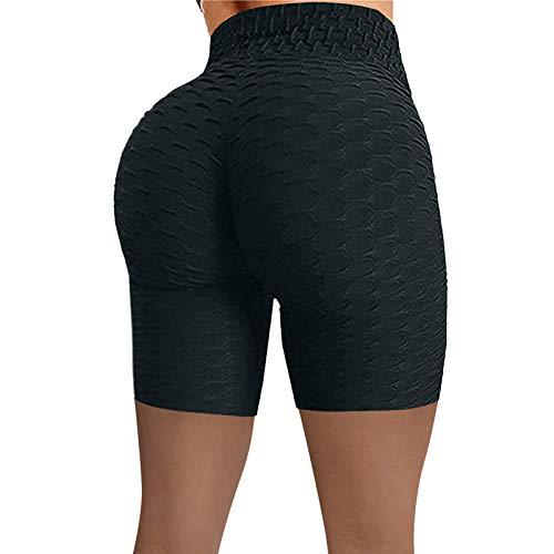 Spritumn-Home Femmes Pantalon Court de Yoga, Shorts de Leggings Taille Haute de Sport Sexy Été Legging Short Anti Cellulite, Gym Fitness et Activités de Plein Air