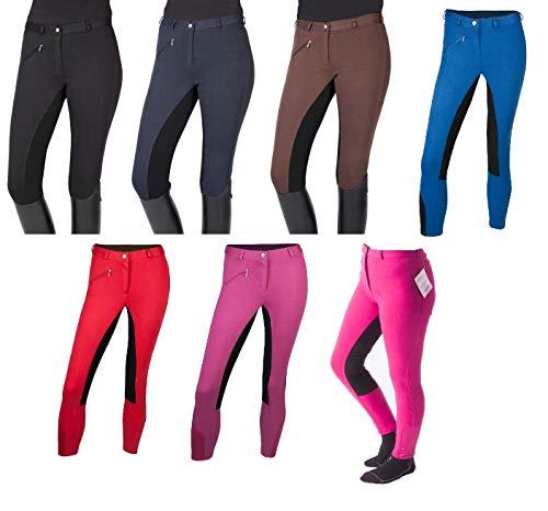 """PFIFF 102290 pantalon d'équitation pour femmes """"Thea"""", culotte avec fond en cuir, Noir..."""