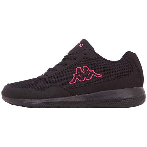 Kappa Follow Oc, Sneakers Basses Femme, Noir (Black/Pink 1122), 40 EU