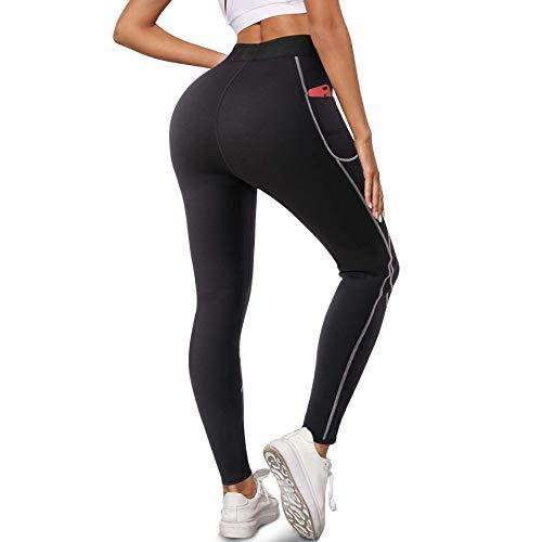 Bingrong Pantalon de Sudation Femme Sauna Legging Minceur Taille Haute Néoprène Pantalon avec...