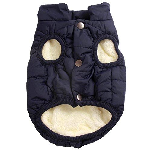 Joydaog Manteau coupe-vent pour chien 2couches avec doublure polaire extra-chaude et douce
