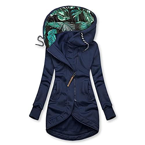 Pianshanzi Manteau d'hiver pour femme - Veste de pluie légère imperméable et respirante - Avec capuche - Veste fine - Grandes tailles - Pour le sport - Convient pour les adultes, E5 marine, M prix et achat