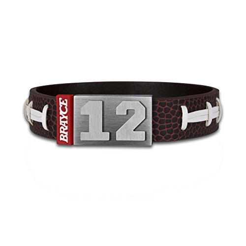 BRAYCE® Bracelet de Football américain avec Votre numéro 00-99 I Personnalisable comme Un Maillot de American Football