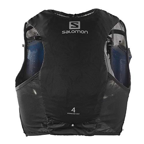 Salomon Hydra Vest 4 Set Gilet d'hydratation 4 L Unisexe 2 x Soft Flasks Incluses Pour Trail...