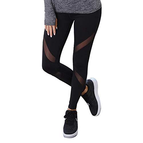 Libella Legging pour Femme Pantalon de Course à Pied avec empiècements en Mesh Fitness Yoga...