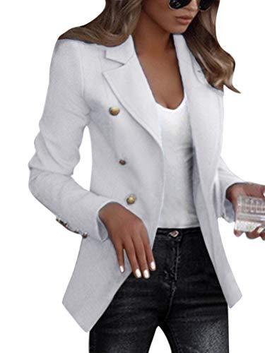 Shallood Veste Femme Blazer Chic De Costume Casual Slim Tailleur À Manches 3/4 Un Bouton A...