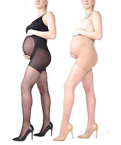 LOVELYBOBO 2 Pack 20D Collant Maternité - Collant de Grossesse - Collants pour Femmes...