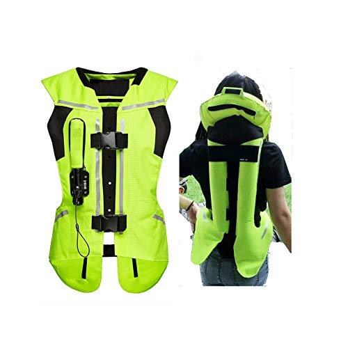 Gilet Airbag D'équitation Équipement De Sécurité Équestre Avec Protection Dorsale Convient Pour Les Motos Et Les Véhicules Tout-terrain (unisexe) Gilet airbag moto ( Color : Green , Size : XXX-Large )