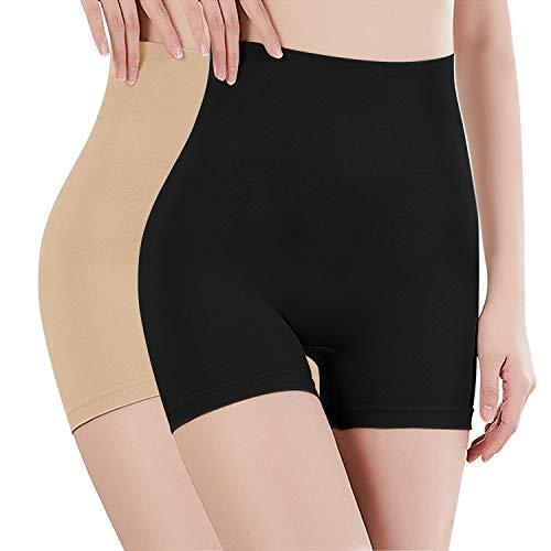 Libella - Culotte Panty Femme - Effet Ventre Plat - sans Couture - correcteur Taille Haute - 3605 Beige + Blanc M/L