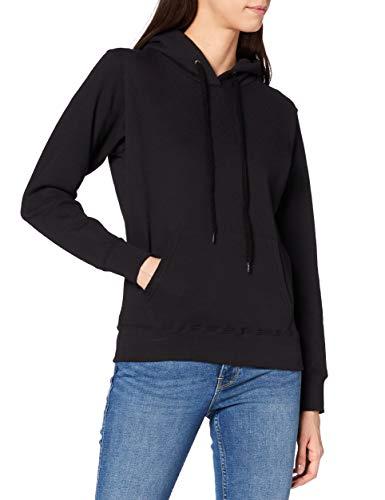 Fruit of the Loom - Sweat-shirt à capuche - Manches Longues - Femme - Noir (Black) - FR 40...