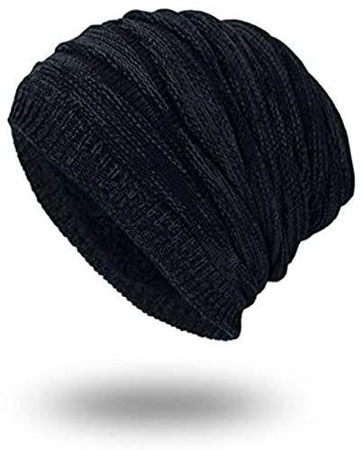 Tweal Long Slouch Chaud Bonnet,Unisex Bonnet Chapeau Femme Homme Hiver Chaud Tricoté Chapeaux-Noir prix et achat