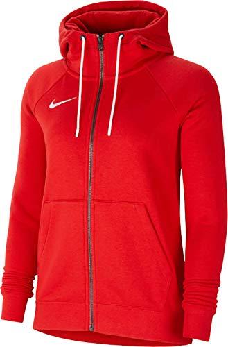 Nike Sweat à Capuche de Football à Manches Longues et Zippé en Molleton pour Femme, Rouge...