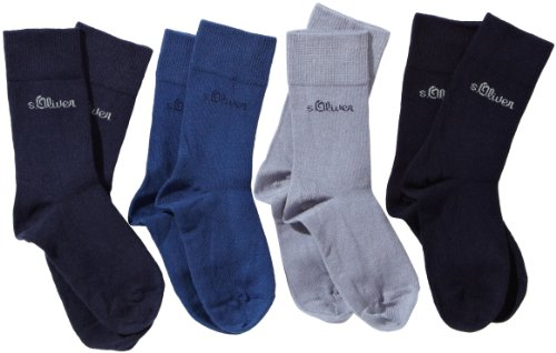 S.Oliver - Chaussettes -Garçon Lot de 4- - Bleu (30 Blue, Blue, Stone, Navy) - 31-34 prix et achat