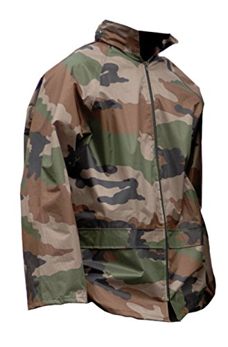 Miltec Tenue de pluie composée d'une veste et d'un pantalon, CCE, M