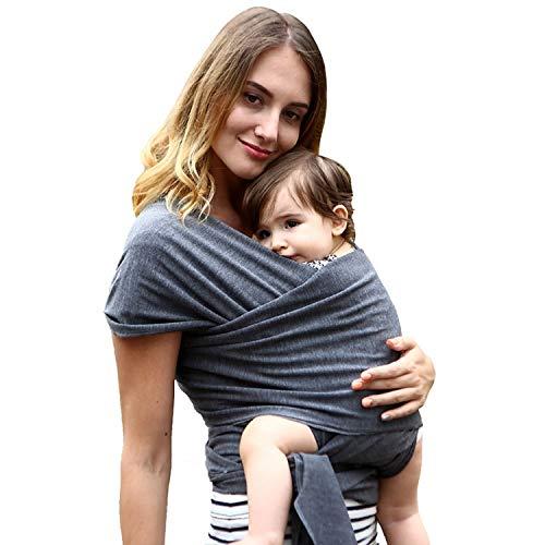 Frabe Family écharpe de portage, pour nouveau-né, porte-bébé et enfant, anthracite,...