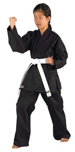 Kwon Kimono de karaté pour Enfant Karatea Shadow Noir Noir 140 cm