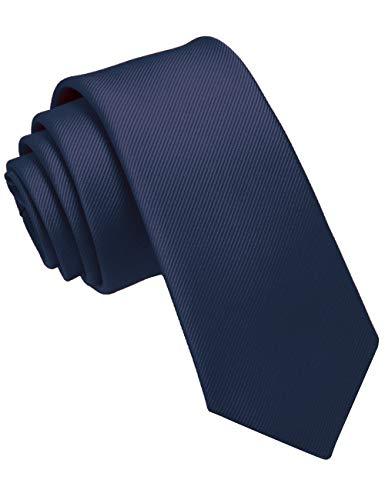 JEMYGINS Cravate Homme Bleu Marine en Soie 6CM Étroit Slim Plusieurs Couleurs Disponibles Décontractée Compris Boîte(5)