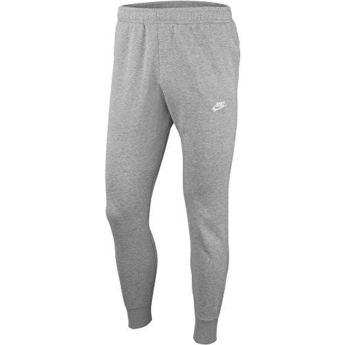 Nike M NSW Club JGGR FT Pantalon de Sport Homme, Gris (Dk Grey Heather/Matte Silver/White), XS