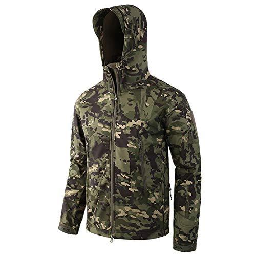 Homme Tactique Camouflage Veste Softshell Automne Hiver Outdoor Armée Militaire Polaire...