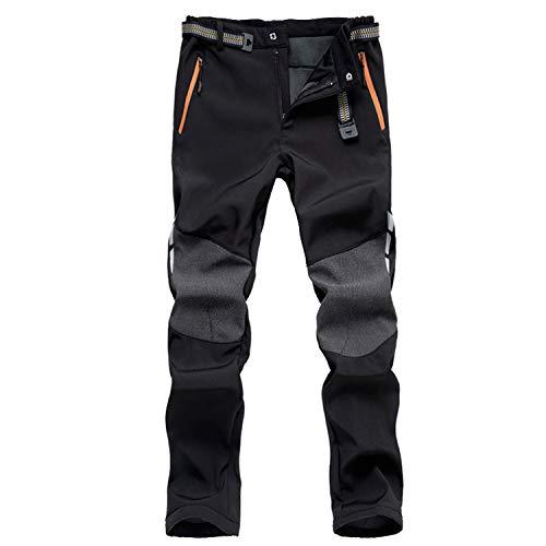 7VSTOHS Pantalon de randonnée Confortable pour Hommes Pantalon Chaud Coupe-Vent Escalade...