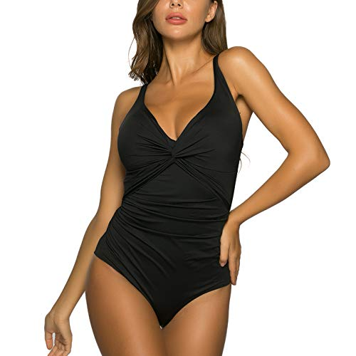 WIN.MAX Femme Maillot de Bain 1 pièce Amincissante Slim Push Up Monokini Dos Nu Bikini (Noir,...