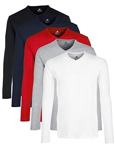 Lower East pour la Pratique du Sport T- T-Shirt À Manches Longues, Multicolore...