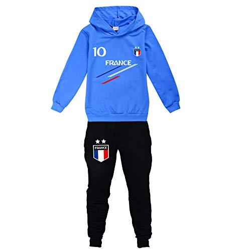 Jogging Enfant De Football France 2 étoiles Sweats à Capuche Survêtements garçon...