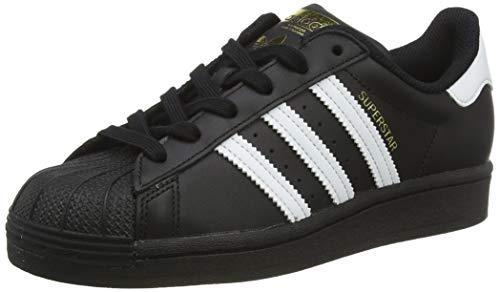 adidas Superstar J, Basket, Noir de Base Blanc Blanc Noir de Base, 38 2/3 EU