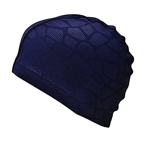 SHESHY Hommes Flexible Imperméable Résistant à l'humidité Bonnet de Natation de Taille Adulte Fibre de Coton Bonnet de Bain (Bleu) prix et achat