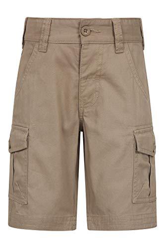 Mountain Warehouse Short Cargo pour Enfants - 100% Coton, Ceinture réglable, Short Doux,...