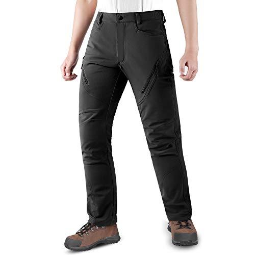 KUTOOK Homme Pantalon Ski Hydrofuge Pantalon Randonnée Softshell Thermique Coupe-Vent Hiver...