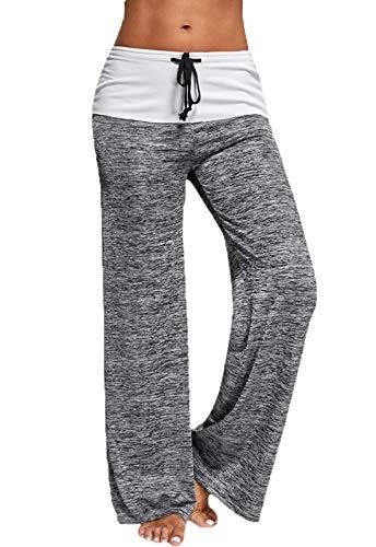 FITTOO Pantalon de Sport Femmes Yoga Pants Pantalon de Yoga pour Gym Fitness, Gris, S