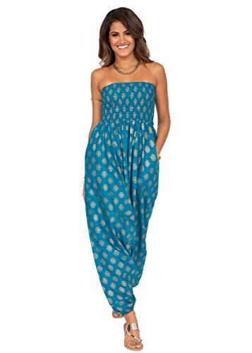 likemary Combinaison sarouel pour femme et pantalon sarouel en coton – 2 en 1 pour femme –...