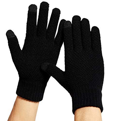 Gants Homme Gants d'hiver Tactile Gants de Doublure Enpeluche Ticotés, Gants Thermostables...