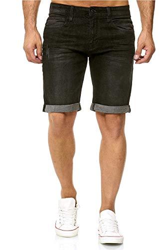 Indicode Kaden Denim Shorts, La Couleur: Black, Taille: M