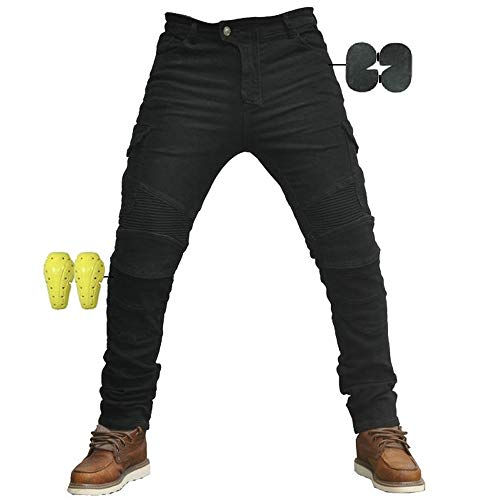 CBBI-WCCI Protection Moto Pantalon Jeans Renforcé avec Protection Doublure Moto Pantalon...