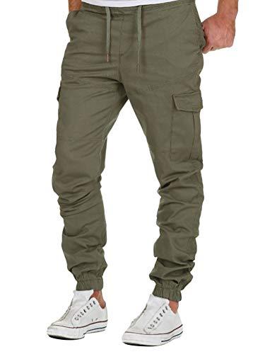 Minetom Homme Pantalon Cargo Casual Jogging Cordon De Serrage Baggy Pants Trousers Sport...