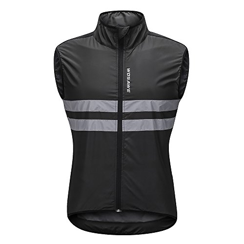 Lixada sans Manches Cyclisme Gilet Jersey Respirant VTT équitation Haut Veste de Sport pour Hommes et Femmes (Noir Blanc-2, L)