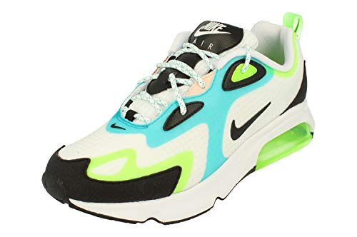 Nike Air Max 200 Se Hommes Running Trainers CJ0575 Sneaker Chaussures (UK 9 US 10 EU 44, White Black Electric Green 101) prix et achat