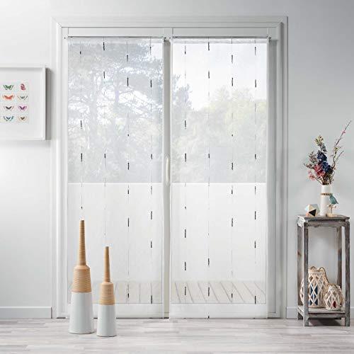 douceur d'intérieur 1626504 Paire, Rideaux Polyester, Gris, 2 x 70 x 200 cm