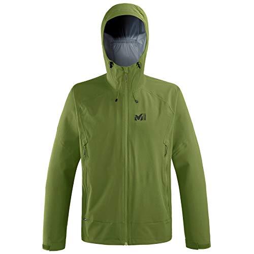 Millet - Fitz Roy Stretch JKT M - Veste de Protection Homme - Imperméable et Respirante - Approche, Randonnée, Trekking, Lifestyle - Vert