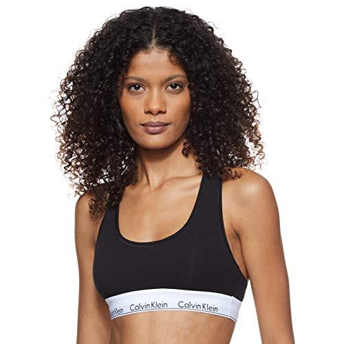 Calvin Klein Underwear - Soutien-Gorge de Sport - Brassière - Uni - Femme - Noir (Black 001) -...